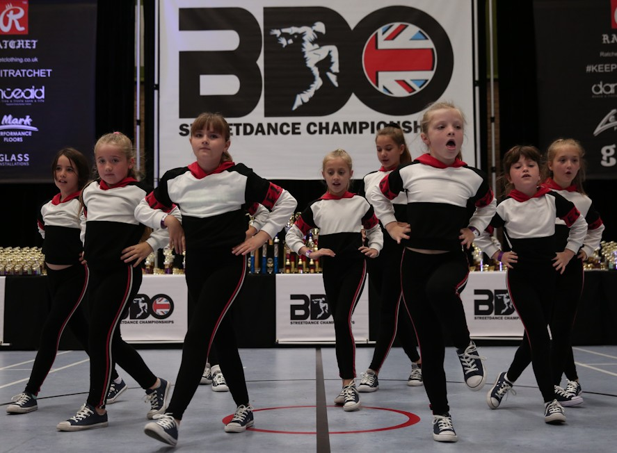 New Generation's street dance crew, Diddy Kaos, performing at the BDO Street Dance Championships.