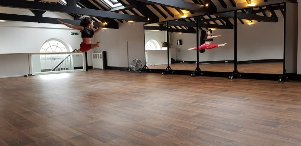Dancer in Oak Studio at the JG Fitness Centre