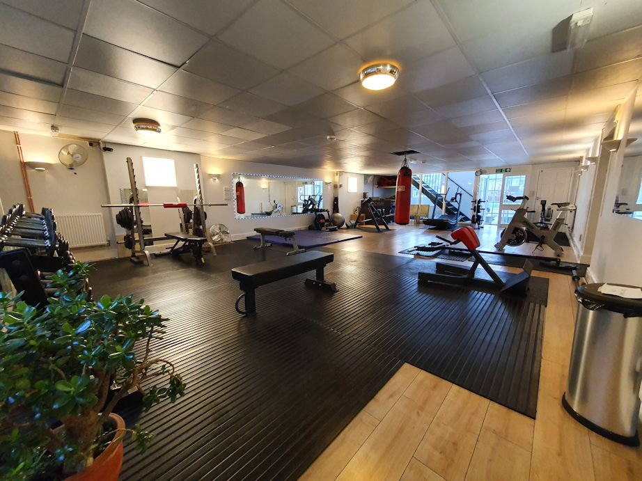 JG Fitness main gym showing free weights