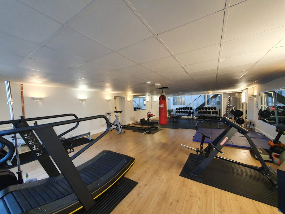 JG Fitness main gym showing assault runner and rowing machine.